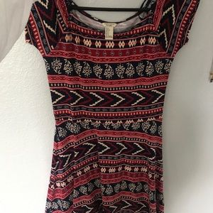 Aztec Dress With Red and Blue
